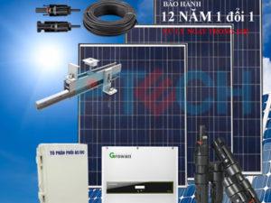 Hệ thống NLMT áp mái trọn bộ